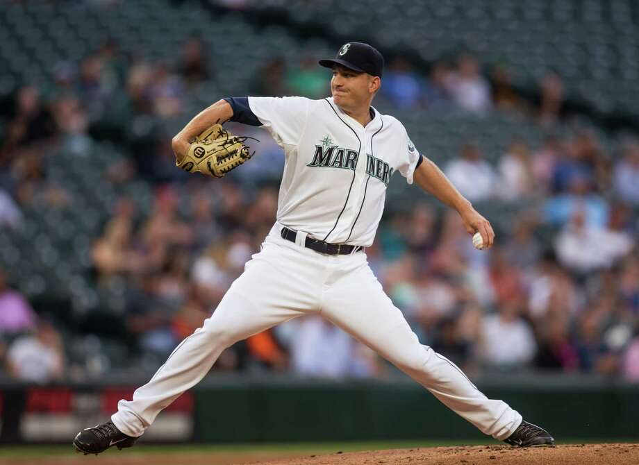 Seattle Mariners starter Mike Montgomery delivers a pitch during the first inning of a baseball game against the Oakland Athletics, Tuesday, Aug. 25, 2015, in Seattle. (AP Photo/Stephen Brashear) Photo: Stephen Brashear, Associated Press / FR159797 AP