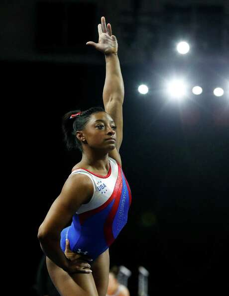Spring's Simone Biles is one of seven finalists for the Amateur Athletic Union's Sullivan Award, which will be given out Sunday in New York. Photo: Ian Terry, MBO / The Herald