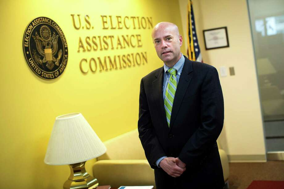 Brian Newby, executive director of the federal Election Assistance Commission, made a change to a form, allowing states to require proof of citizenship when voters register. A lawsuit contests his authority to make that change.   Photo: DOUG MILLS, STF / NYTNS