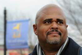 Wayne Spence outside the PEF building on Feb. 7, 2012, in Latham, N.Y. (Skip Dickstein / Times Union archive)
