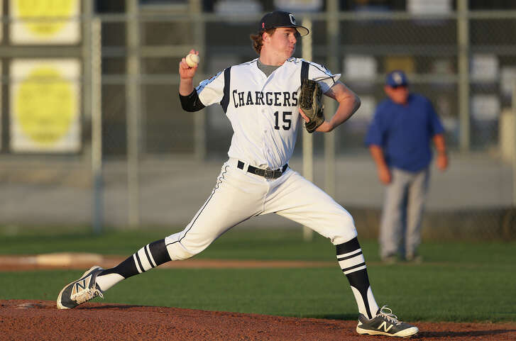 John Weber gets the start for the Chargers as Kerrville Tivy plays at Boerne Champion in 27-5A baseball on April 8, 2016.