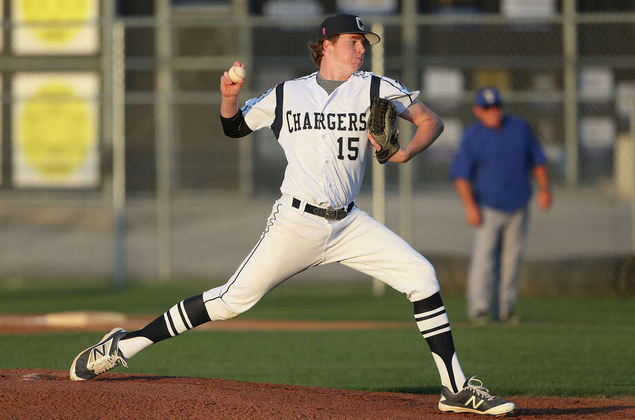 John Weber gets the start for the Chargers as Kerrville Tivy plays at Boerne Champion in 27-5A baseball on April 8, 2016. Photo: Tom Reel /San Antonio Express-News / 2016 SAN ANTONIO EXPRESS-NEWS
