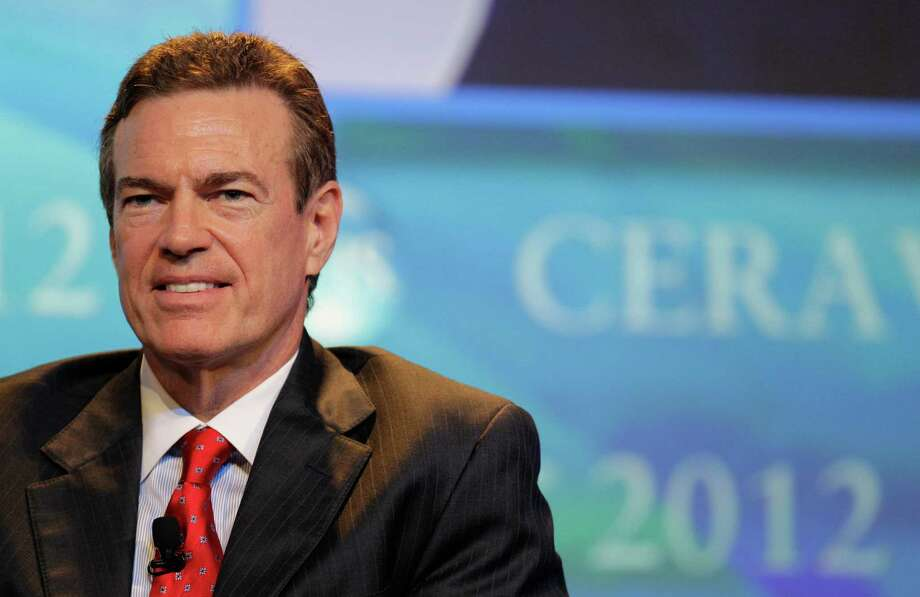 Former Anadarko Petroleum chairman and CEO James Hackett speaking at the annual CERAWeek energy conference at the Hilton Americas in Houston. Hackett now heads up Alta Mesa. Photo: Melissa Phillip, Staff / © 2012 Houston Chronicle