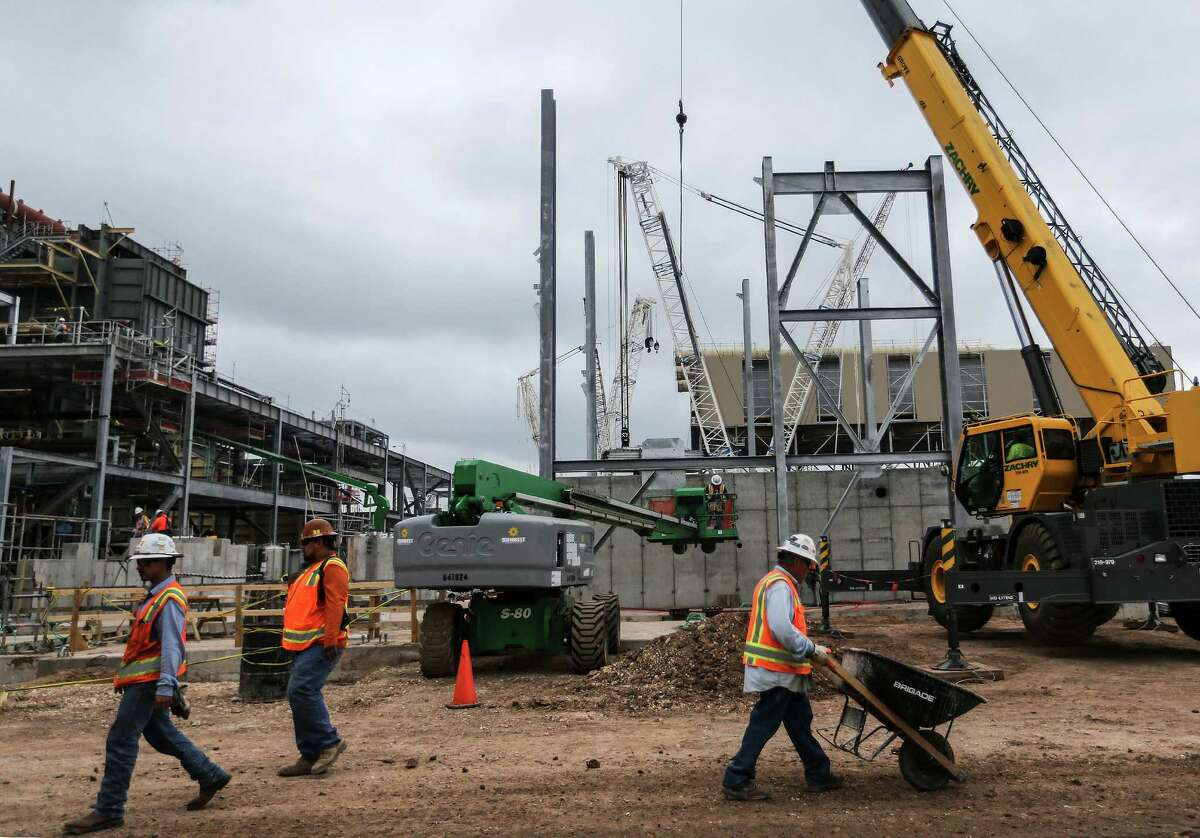 Workers are expanding Exelon's Colorado Bend Generating Station, above and below. The new unit at the Wharton facility will be natural gas-fired.