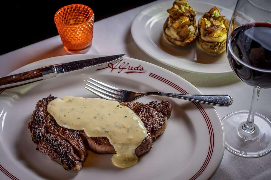The Ribeye Steak with Brown Butter Béarnaise sauce at Alfred's Steakhouse. Photo: John Storey, Special To The Chronicle