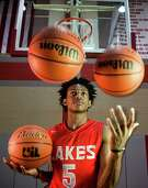 Cypress Lakes basketball player De'Aaron Fox poses for a portrait on Tuesday, March 22, 2016, in Houston. Fox is the Houston Chronicle's All-Greater Houston Boys Basketball Player of the Year. ( Brett Coomer / Houston Chronicle )