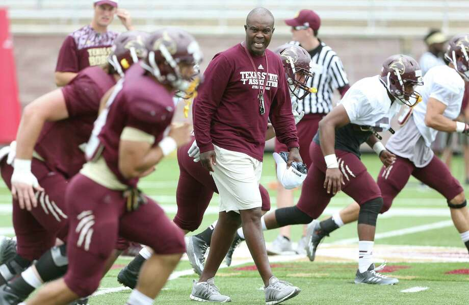 New Texas State head coach Everett Withers watches his players during the spring game at Bobcat Stadium on April 9, 2016. Photo: Tom Reel /San Antonio Express-News / 2016 SAN ANTONIO EXPRESS-NEWS