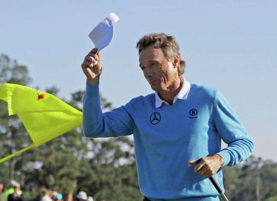 The gallery shows its appreciation for Bernhard Langer's round of 70 that left him two shots behind Jordan Spieth, who is a mere 36 years younger. Photo: Jae C. Hong, STF / AP