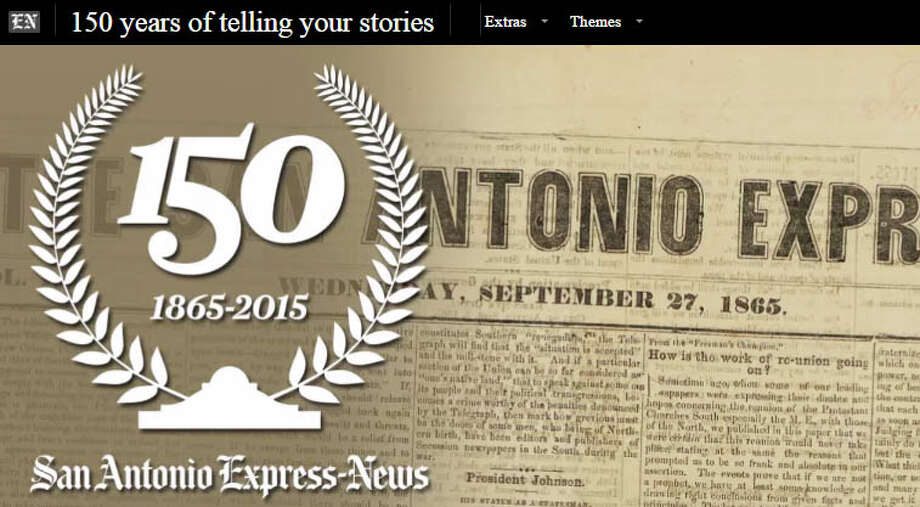 The Express-News staff also won first place for its yearlong feature series on the newspaper's150th anniversary.