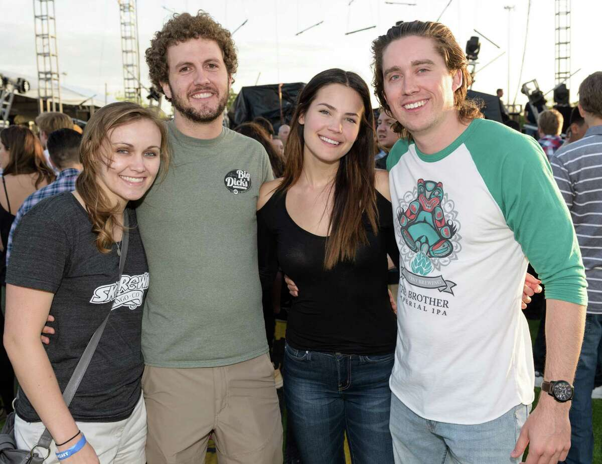 Music fans attending a music festival at The Lawn at Whiteoak Music Hall on Saturday, April 9, 2016 in Houston Texas.