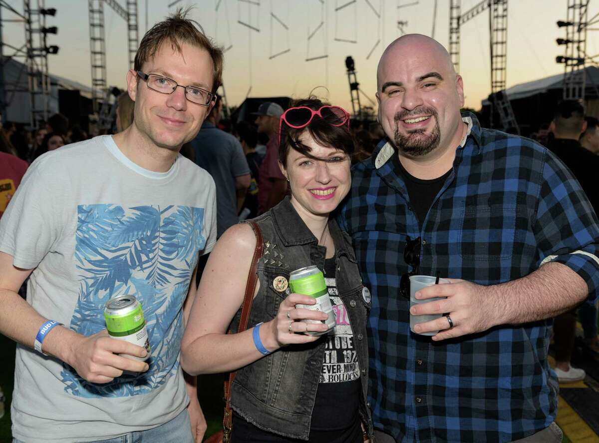 Music fans attending a music festival at The Lawn at White Oak Music Hall on Saturday, April 9, 2016, in Houston.