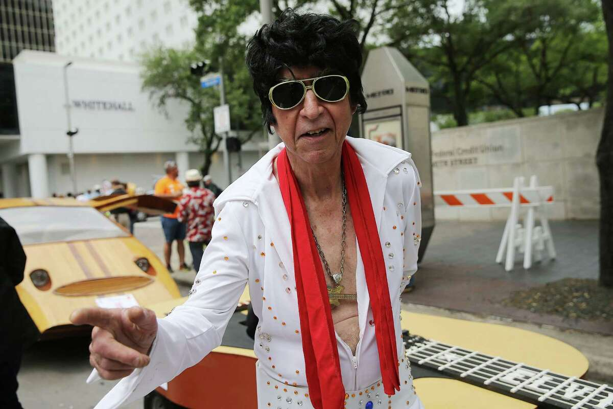 Photos of people attending the 29th Annual Houston Art Car Parade on Saturday, April 9, 2016, in Houston.