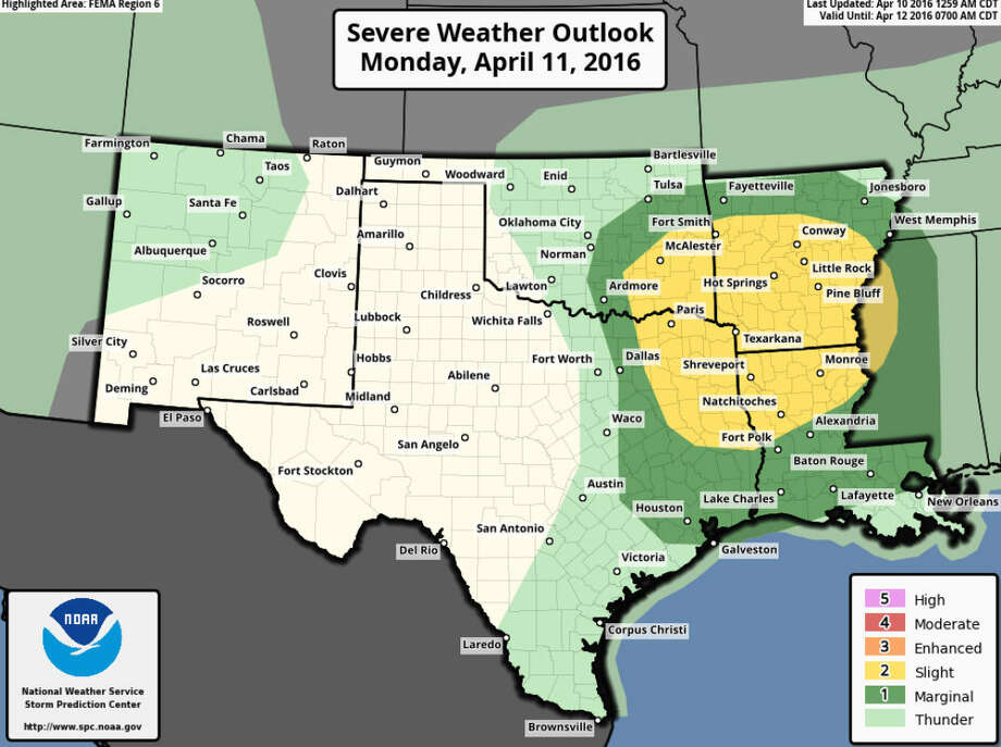 Severe weather is expected in Southeast Texas this week. Click the gallery to see high-water spots to avoid in the area when it rains.