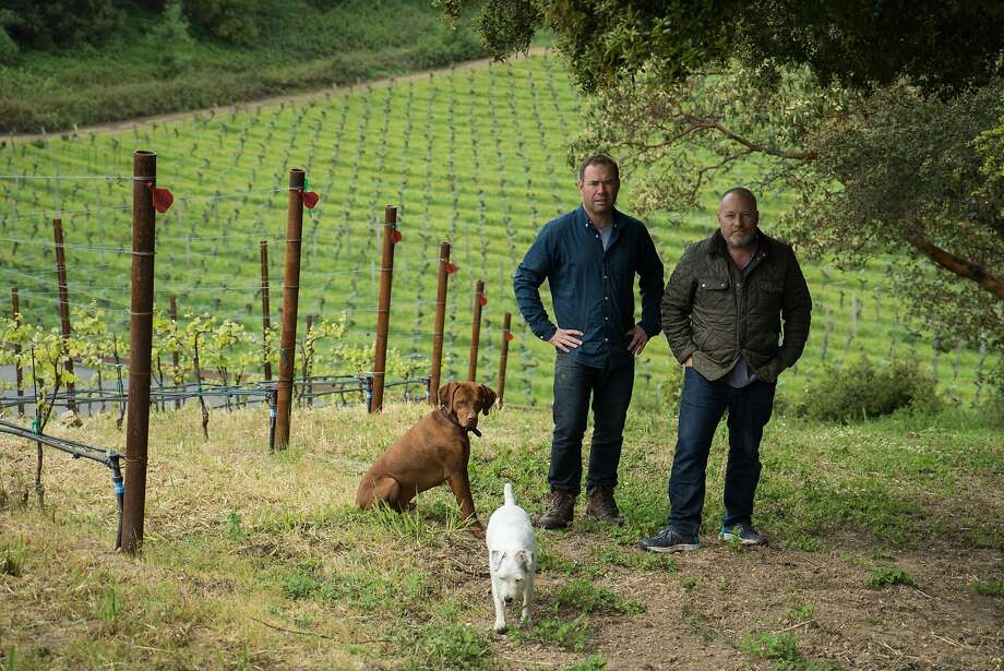 Thomas Fogarty Winery's winemaker, Nathan Kandler, and proprietor Tom Fogarty Jr. Photo: James Tensuan, Special To The Chronicle