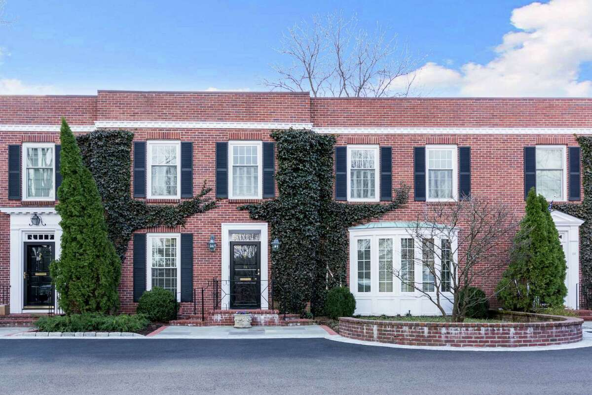 This three-level townhouse at Southgate has 3,450 square feet, and a private 40-foot-wide bluestone terrace.