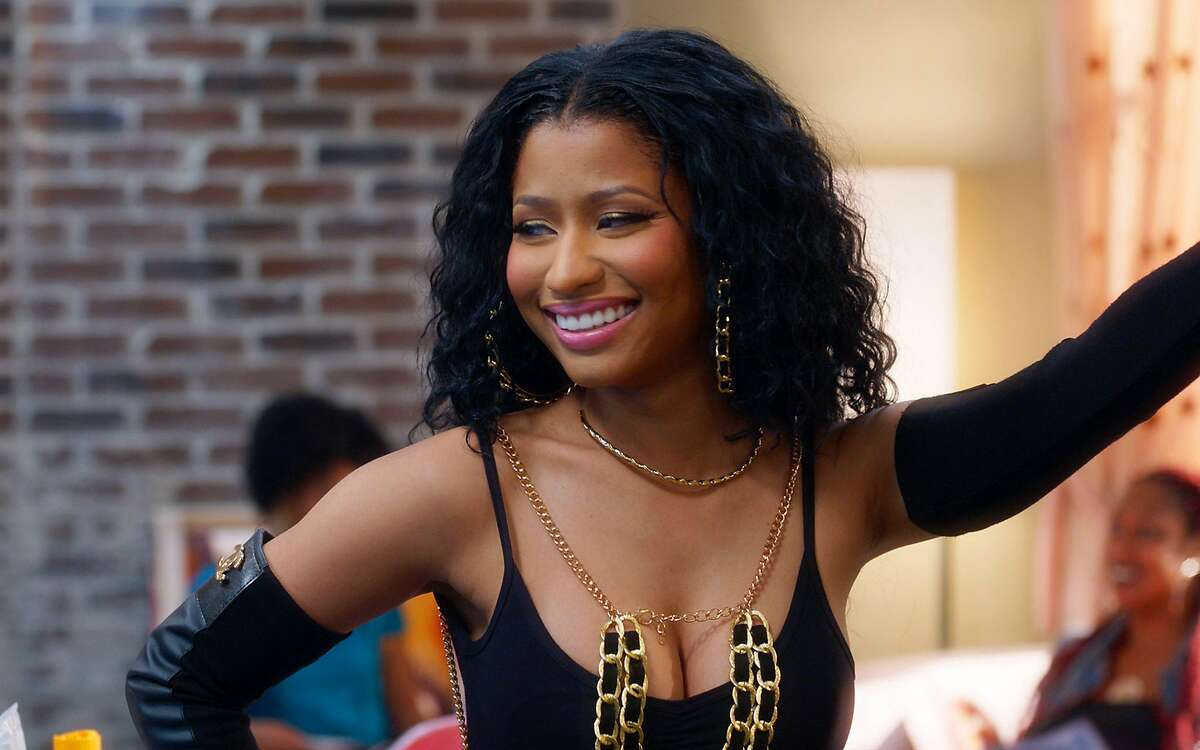 In this image released by Warner Bros., Nicki Minaj appears in a scene from