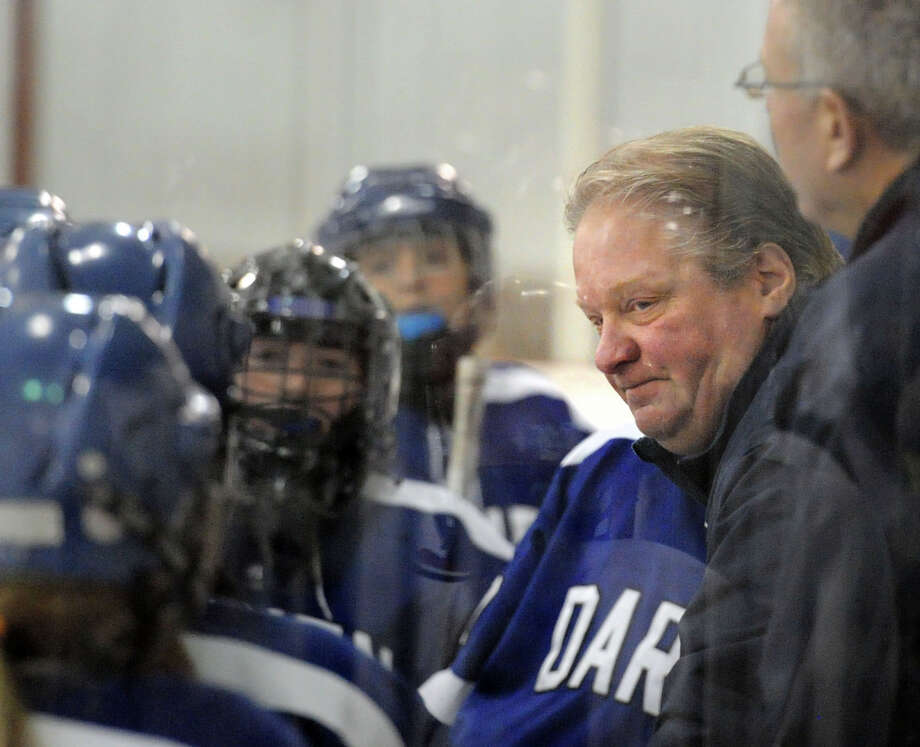 Darien High School's Jamie Tropsa is the 2015-16 Hearst Connecticut Media Girls Ice Hockey Coach of the Year Photo: Bob Luckey Jr. / Hearst Connecticut Media File Photo / Greenwich Time