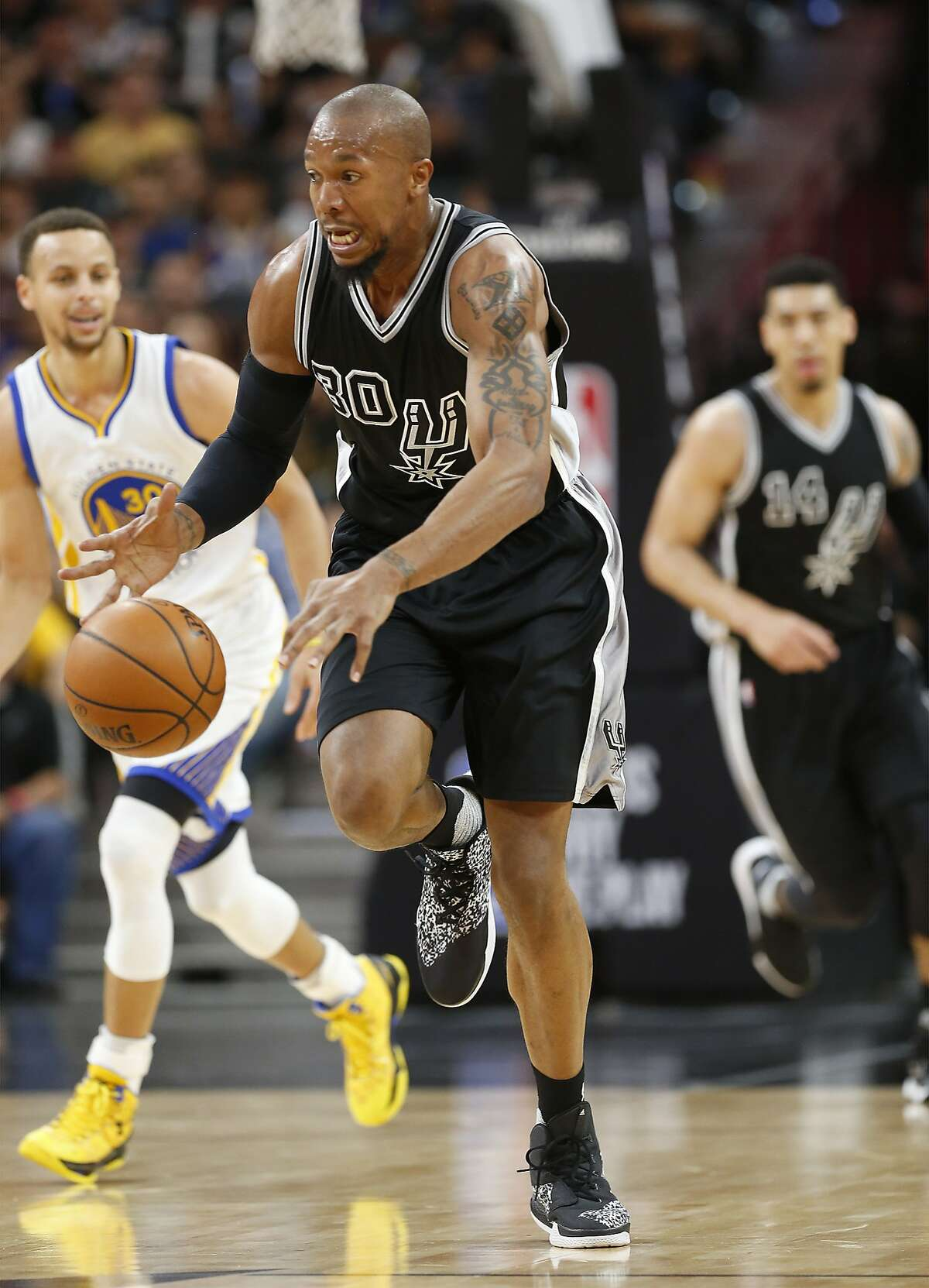 Arriving: Forward David West from the San Antonio Spurs