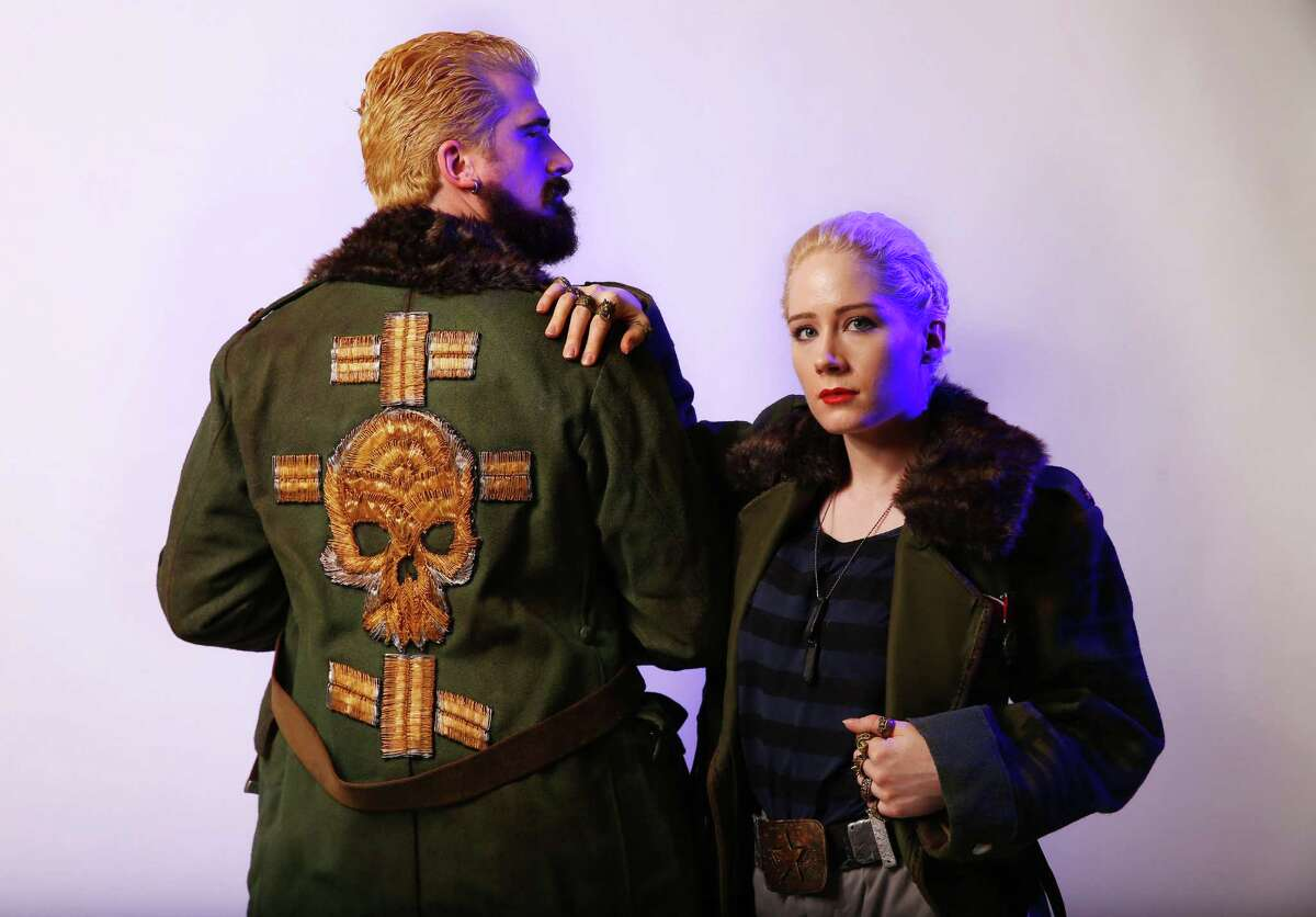 Alicia Archer and Bryce Pinkston are dressed as Sasha and Aleksis Kaidanovsky from Pacific Rim at the 2016 Emerald City ComiCon, Saturday, April 9, 2016. Over 80,000 people attended last year's event.