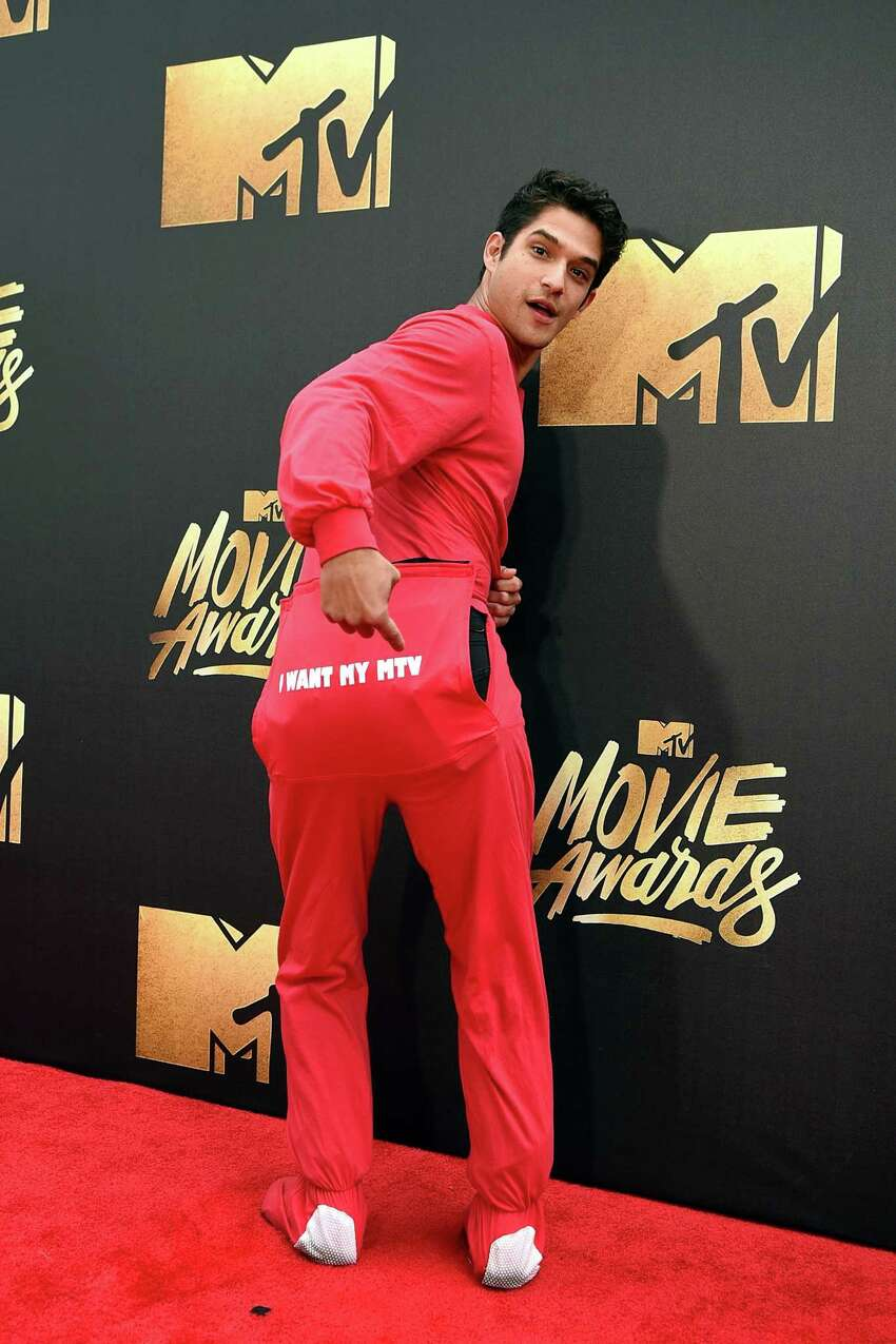 Actor Tyler Posey attends the 2016 MTV Movie Awards at Warner Bros. Studios on April 9, 2016 in Burbank, California. MTV Movie Awards airs April 10, 2016 at 8pm ET/PT.