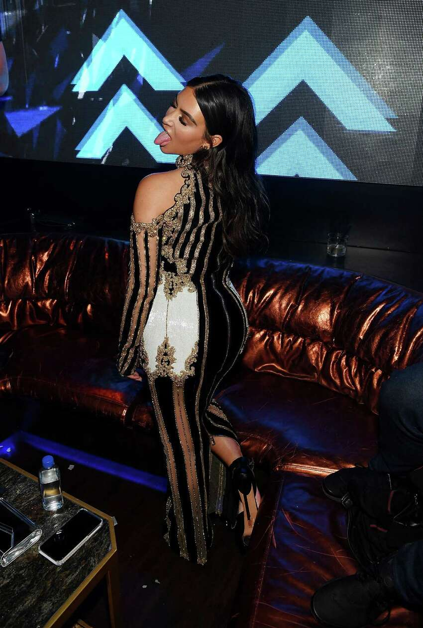 Kim Kardashian West hosts Hakkasan Las Vegas third anniversary at Hakkasan at MGM Grand on April 9, 2016 in Las Vegas, Nevada. (Photo by Denise Truscello/WireImage)