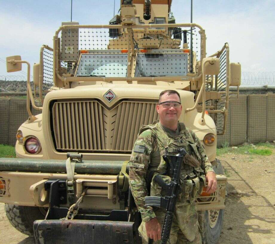 Army New York Army National Guard Lt. Col. Mathew Tully on duty in Afghanistan.