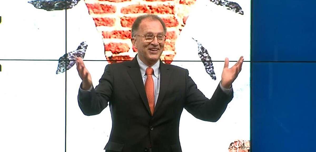 Antoine van Agtmael speaks at the Brookings Institution last week about the new book