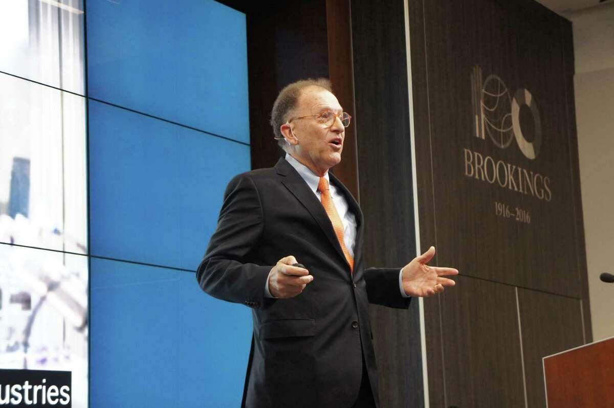 Antoine van Agtmael speaks at Brookings Institution last week about his new book