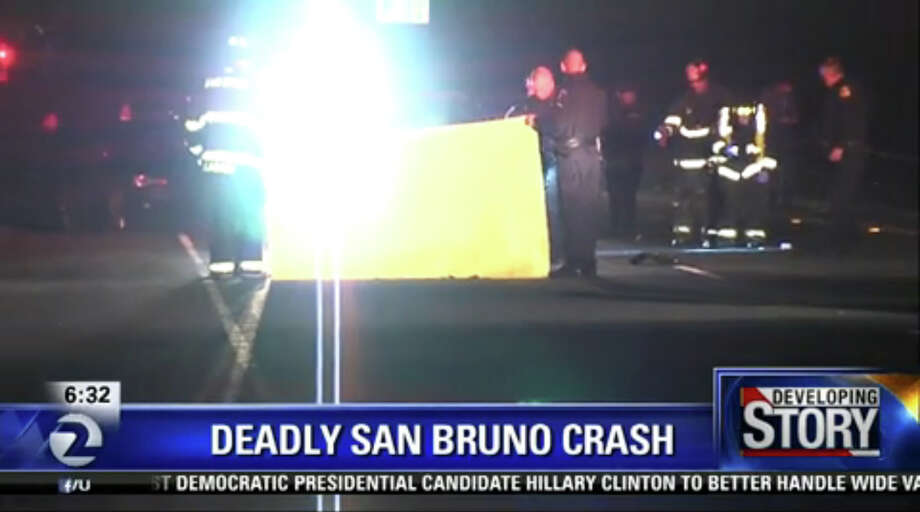 A pedestrian was killed in a hit-and-run early Monday morning on Skyline Boulevard in San Bruno. Photo: KTVU