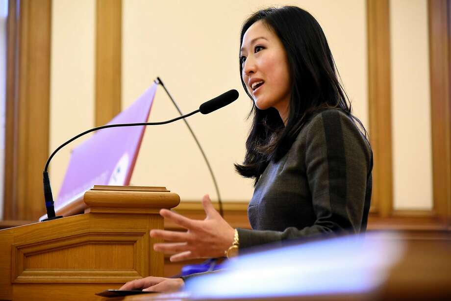 Sunset District Supervisor Katy Tang tells the can nabis dispensary's harshest critics to tone down. Photo: Michael Short, Special To The Chronicle