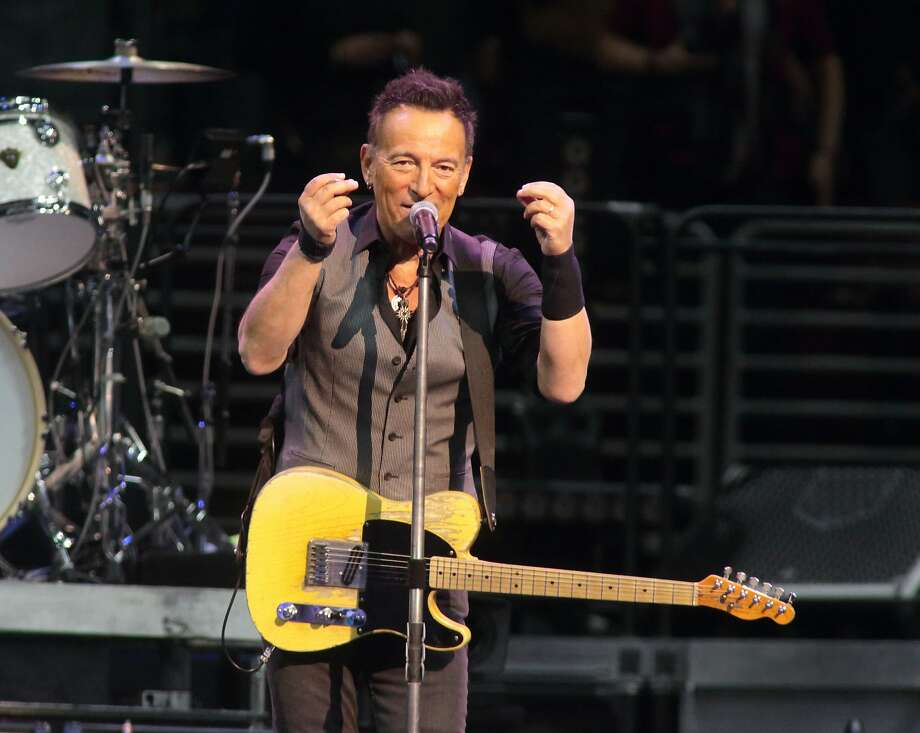 """FILE - In this Feb. 12, 2016 file photo, Bruce Springsteen performs in concert with the E Street Band during their """"The River Tour 2016"""" at the Wells Fargo Center in Philadelphia. Springsteen has canceled his concert in North Carolina, citing the state's new law blocking anti-discrimination rules covering the LGBT community. In a statement on his website Friday, April 8, 2016, Springsteen said he was canceling the concert scheduled for Sunday in Greensboro because of the law, which critics say discriminates against gay, lesbian, bisexual and transgender people. (Photo by Owen Sweeney/Invision/AP, File) Photo: Owen Sweeney, Owen Sweeney/Invision/AP"""