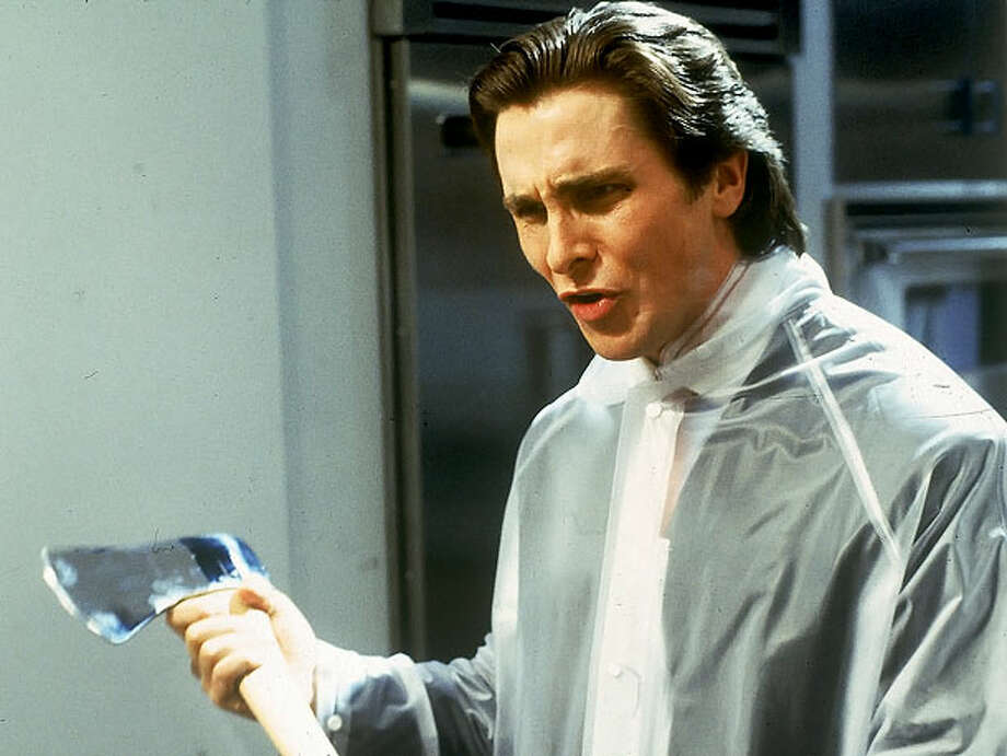 "Christian Bale slayed as a yuppie serial killer in Mary Harron's excellent 2000 film version of ""American Psycho."" Photo: Courtesy Photo"