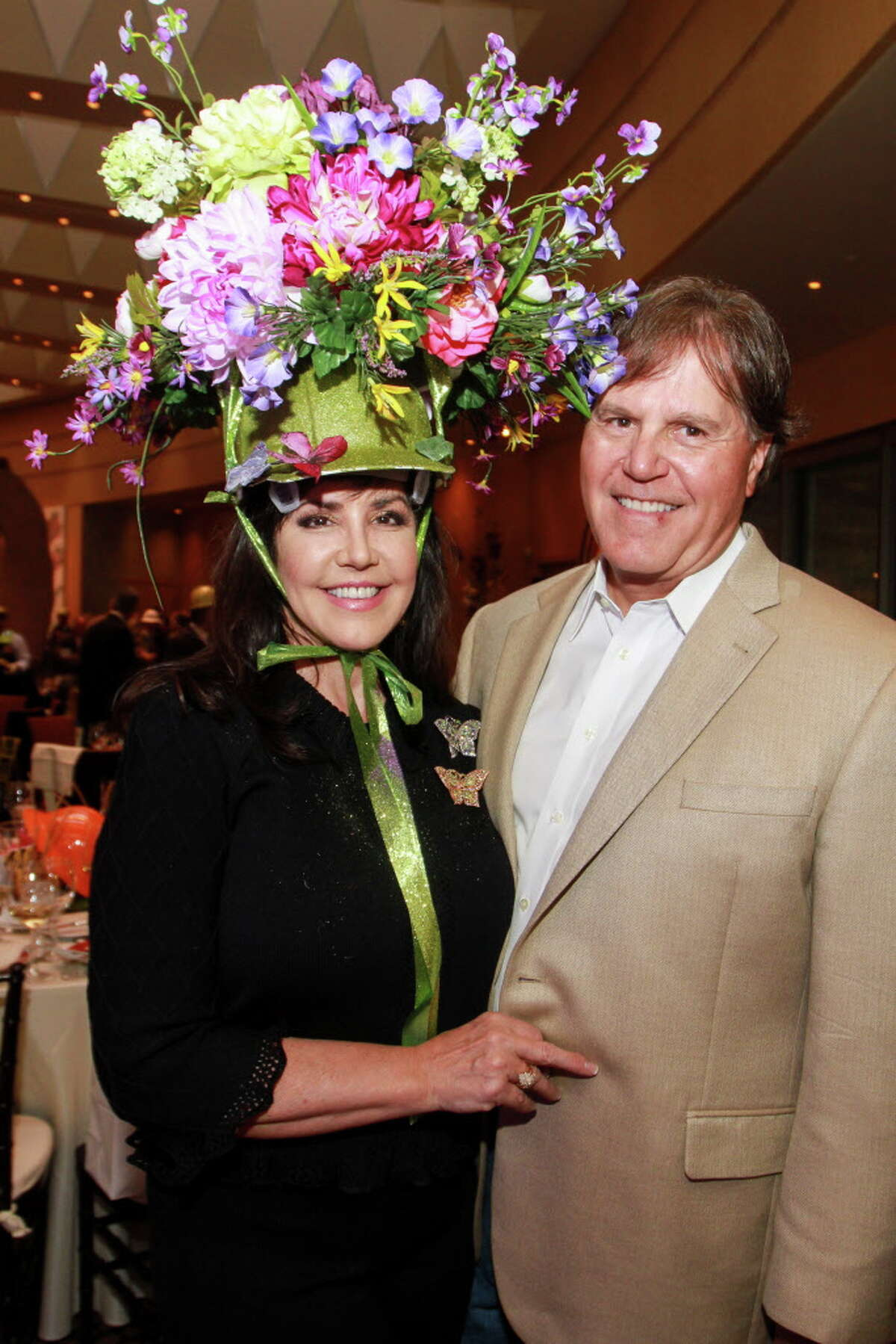 Robin Young-Ellis and Commissioner Joe Ellis at the celebrity servers event. (For the Chronicle/Gary Fountain, April 10, 2016)
