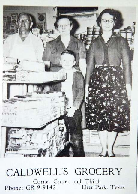 Caldwell's Grocery: An undated publicity image from the Deer Park Chamber of Commerce. Before 1950, most grocery stores in the area were family-owned. Photo: Deer Park Historical Committee