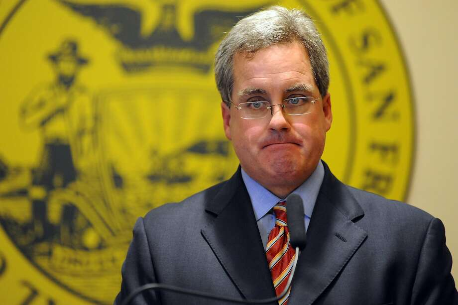 City Attorney Dennis Herrera reports during a press conference at City Hall that he has filed dual legal challenges to the possible termination of City College of San Francisco's accreditation, in San Francisco, California on Thursday, August 22, 2013. Photo: Michael Short, Special To The Chronicle