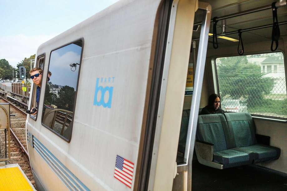 A BART conductor looks to see that all passengers have boarded the train at the Daly City BART stop in Daly City, California, on Monday, April 11, 2016. Photo: Gabrielle Lurie, Special To The Chronicle