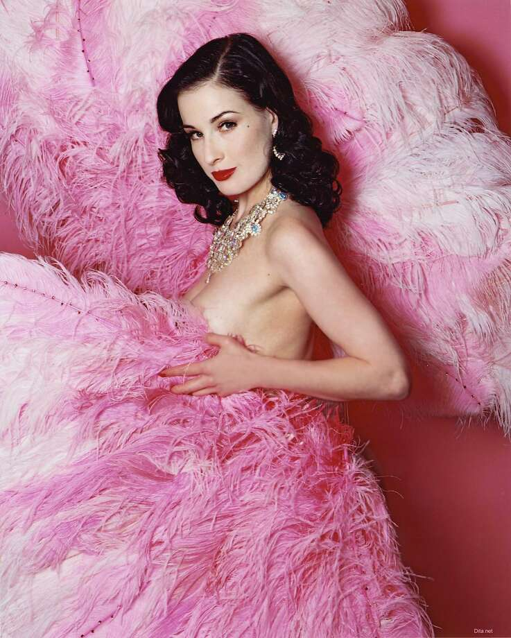 Dita Von Teese, who appeared in a Viva Glam campaign for MAC cosmetics in 2007, is bringing her burlesque show to the Regency Ballroom in San Francisco April 17-19. Photo: HANDOUT, SFC