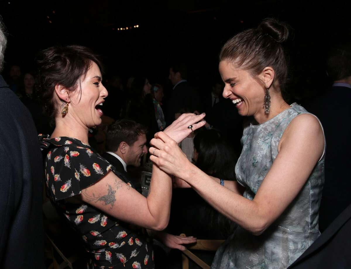 Lena Headey and Amanda Peet attend the after-party for the premiere Of HBO's
