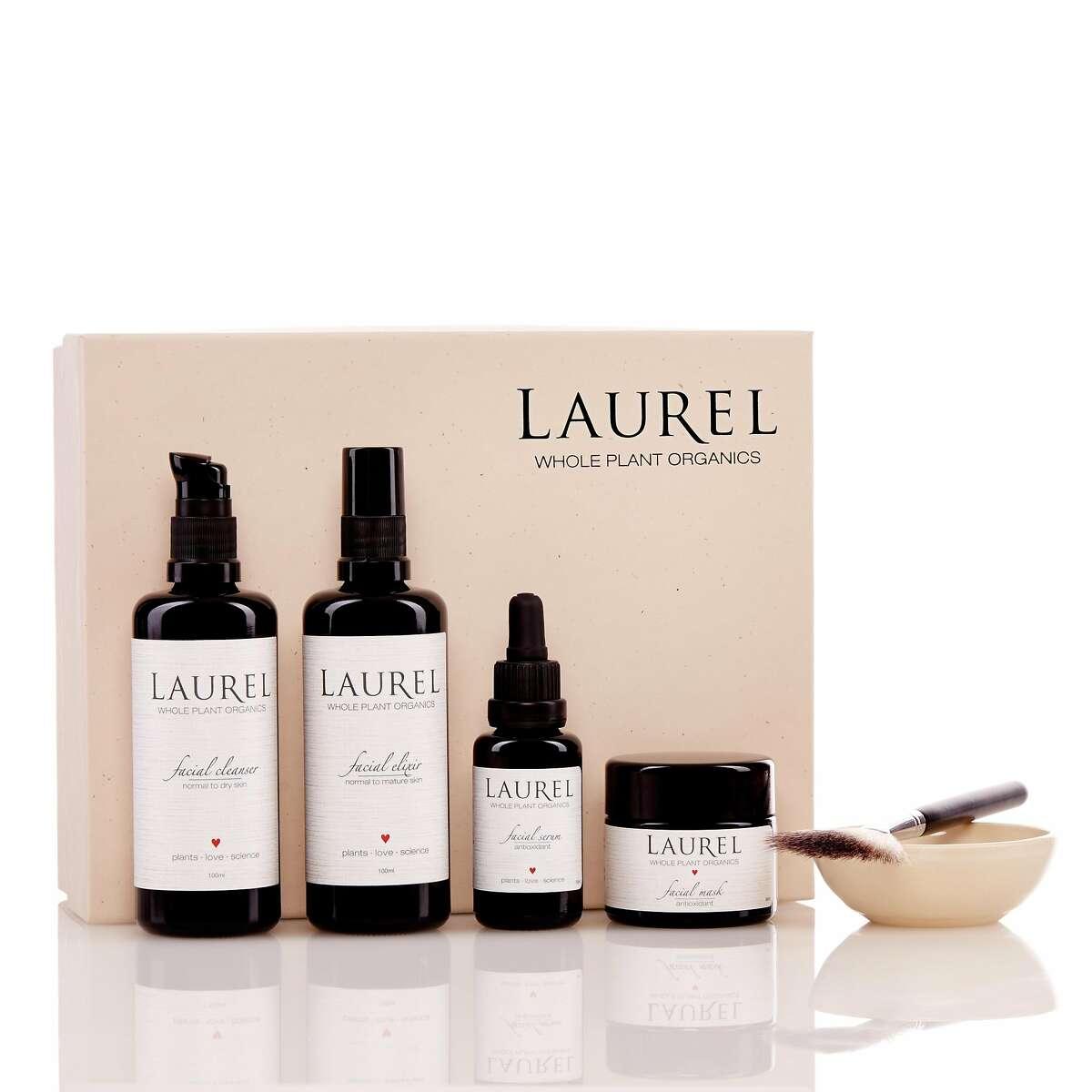 Laurel Whole Plant Organics new full-sized gift boxes. $228, www.laurelskin.com