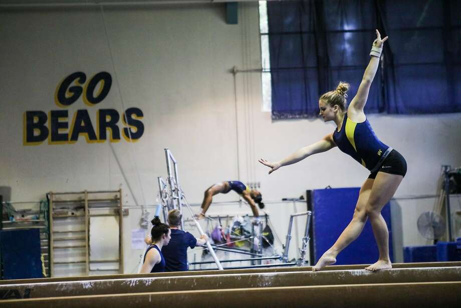 Cal gymnasts Jessica Howe practices her beam routine at UC Berkeley, in Berkeley, California, on Thursday, April 7, 2016. Photo: Gabrielle Lurie, Special To The Chronicle