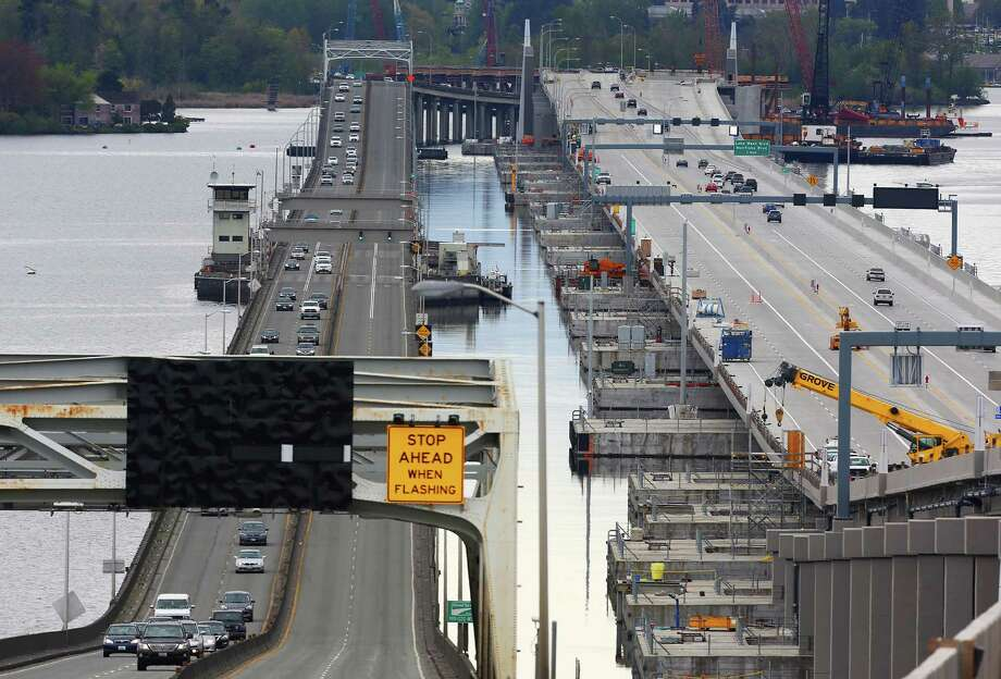 Traffic opened westbound on the new 520 bridge Monday, April 11, 2016. Photo: GENNA MARTIN, SEATTLEPI.COM / SEATTLEPI.COM