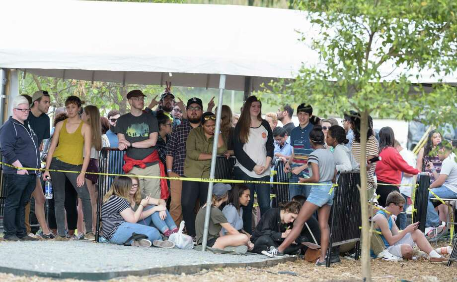 Fans wait to get in at a sold-out concert at the 6-acre property. The venue's developer called the show a success. Photo: Wilf Thorne / © 2016 Houston Chronicle