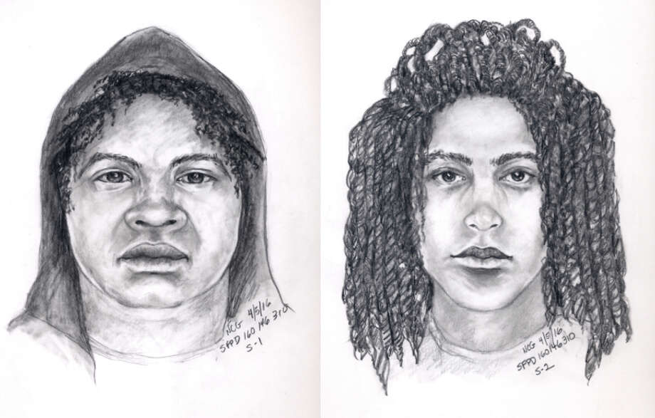 Police on Monday released these sketches of suspects wanted in the murder of a British tourist.