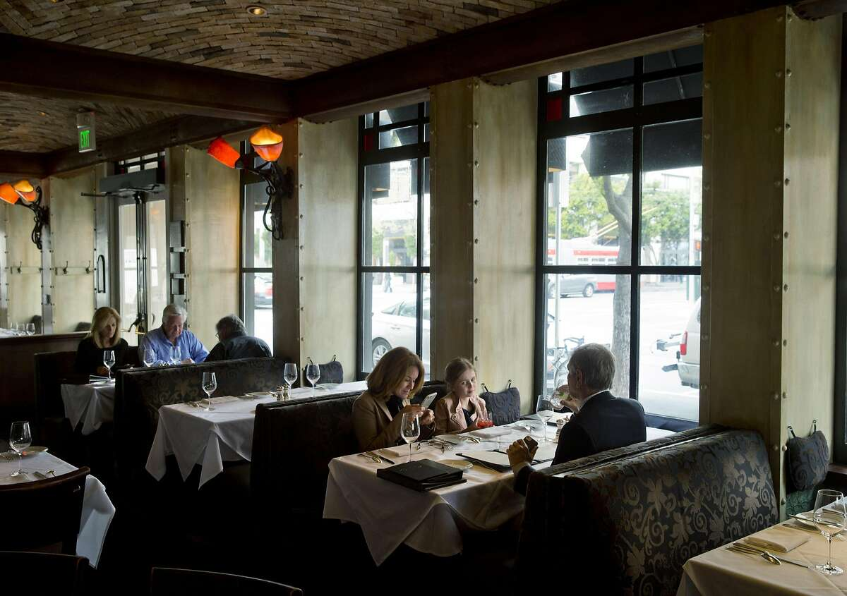 Guests in the dining room at Boulevard Restaurant in San Francisco, Calif., on Sunday, April 10, 2016. Boulevard has been chosen for the Chronicle's Top 100 restaurants.