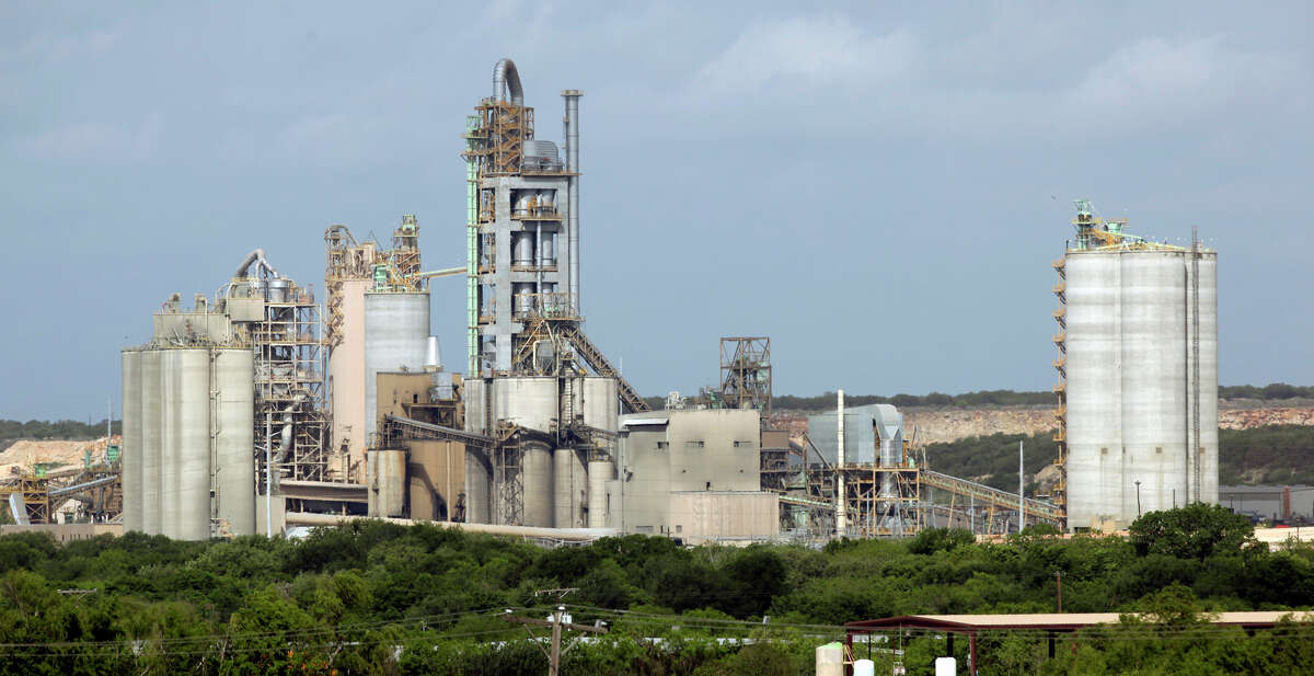 Along with other cement plants, the Cemex Balcones Quarry, seen from Interstate 35 south of New Braunfels, is among the biggest single sources of ozone-causing pollutants.