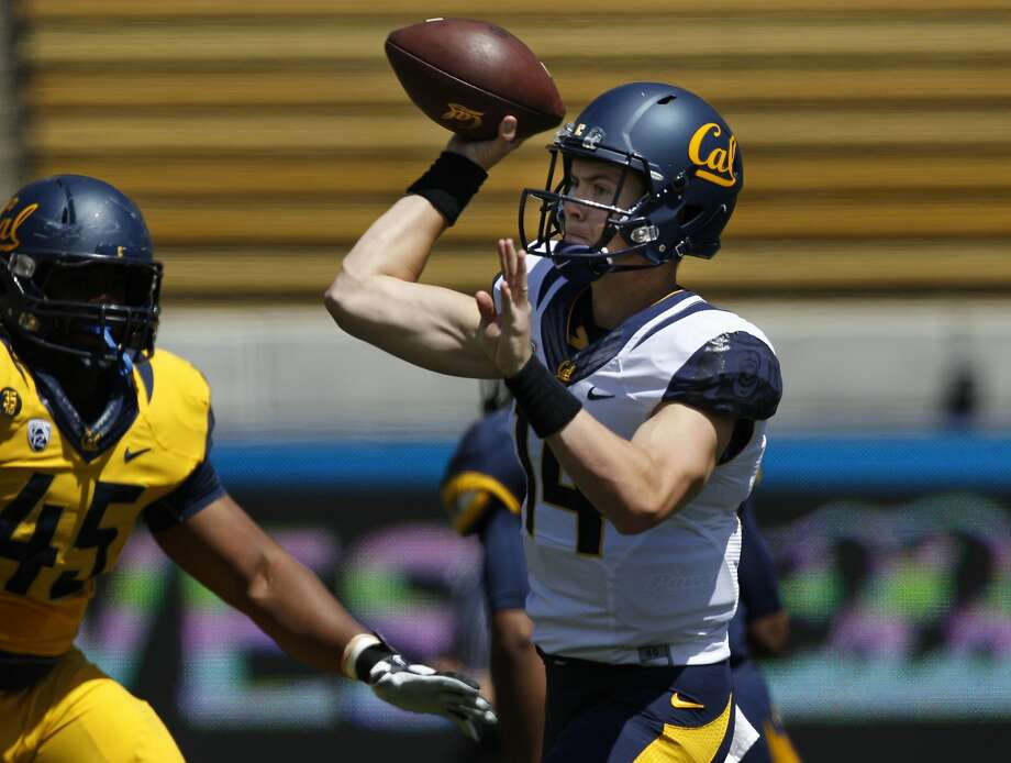 California Golden Bears quarterback Chase Forrest (14) throws the ball during a football scrimmage, Saturday, April 18, 2015, at the California Memorial Stadium in Berkeley, Calif. Photo: Santiago Mejia, The Chronicle