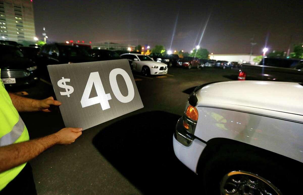 Fans complained about parking prices for the Astros' home opener at Minute Maid Park on Monday.