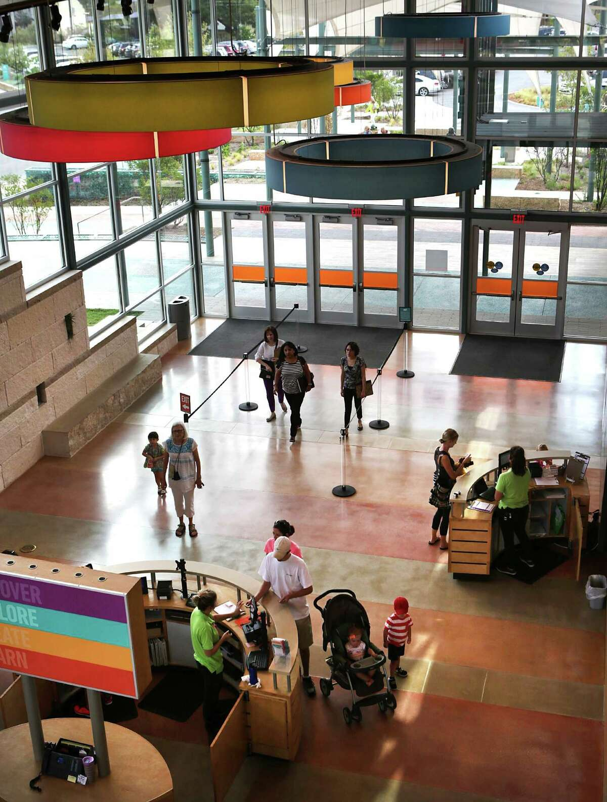 The DoSeum includes an expansive entry hall.