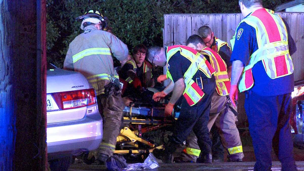 At least two people were transported to an area hospital with serious injuries following a head-on crash on the Northeast Side on April 11, 2016.