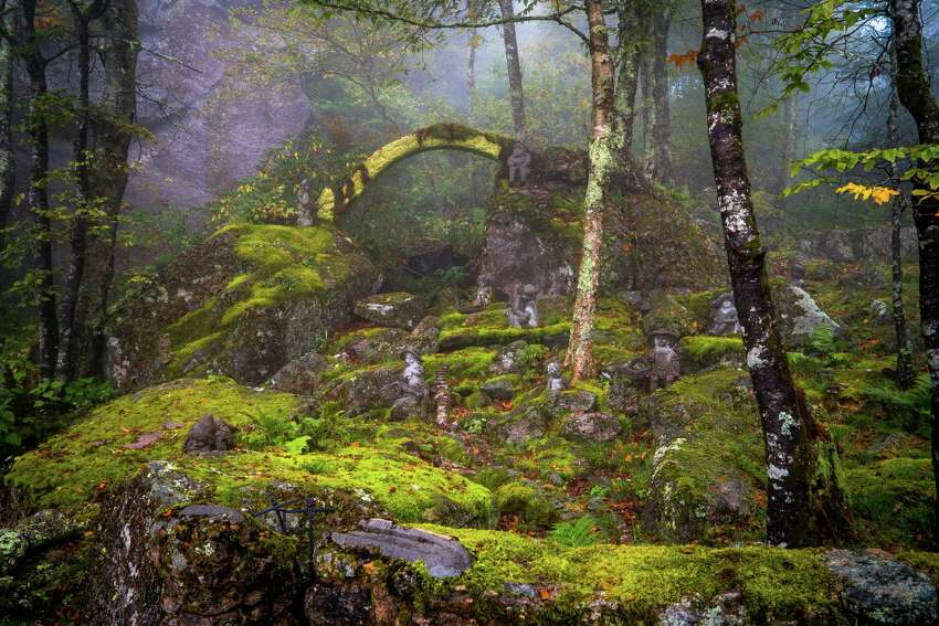 Ohio-based photographer Johnny Joo snapped several otherworldly photos of the Land of Oz in Beech Mountain, North Carolina, during a trip to the park in 2015.